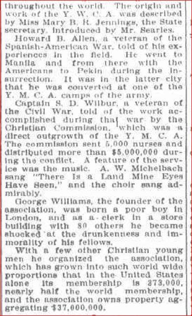 November 13 1905 YMCA founder 1